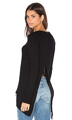 Waffle Ace Sweater in Black