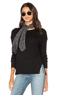LNA Cozy Waffle Pullover Sweater in Black