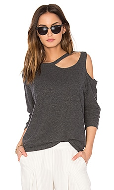 Double Slash Sweater in Charcoal
