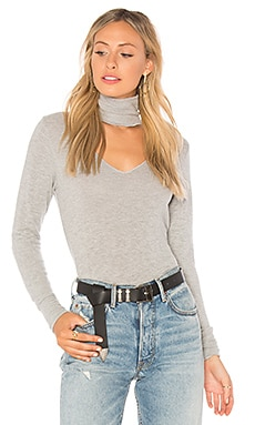 Brushed Detached Turtleneck Sweater