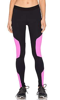 LNA Shield Active Legging in Black & Hot Pink