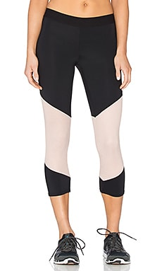LNA Division Active Crop in Black & Nude