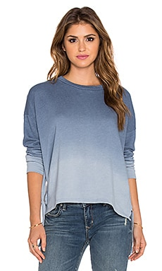 LNA Ombre Backtail Sweatshirt in Blue Ombre Dye