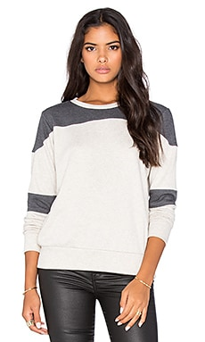 LNA Football Sweatshirt in Lino & Charcoal