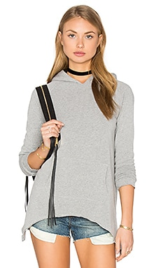 Side Tail Hoodie in Heather Grey