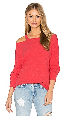 Bolero Cut Out Sweater in Red