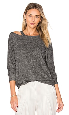 Bolero Cut Out Sweater in Melange Grey