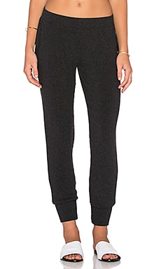 LNA Madison Rib Pant in Charcoal