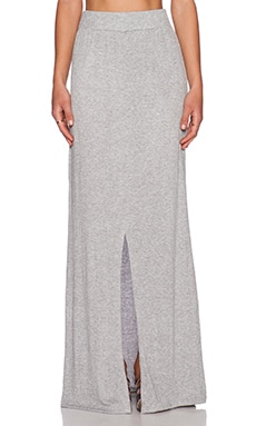 LNA Gauze Column Skirt in Heather Grey