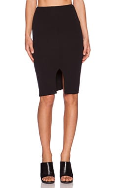 LNA Harley Slit Skirt in Black