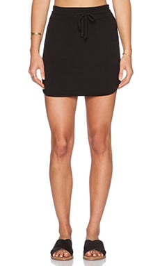 LNA Lainie Mini Skirt in Black