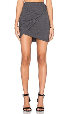 LNA Double Layer Mini Skirt in Granite