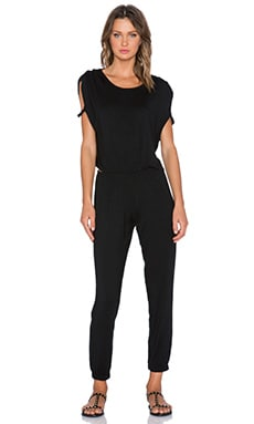 LNA Rocky Jumpsuit in Black & Black