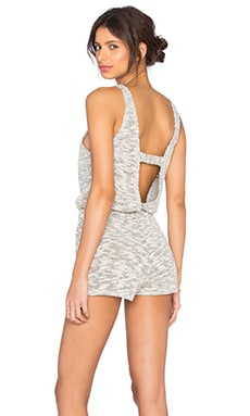 LNA Ale Tank Romper in Natural & Black
