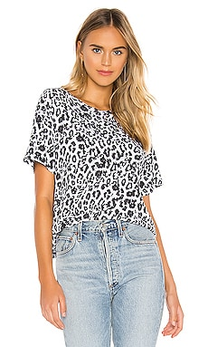 T-SHIRT THE BOXY CREW LEOPARD LNA $95