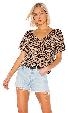 Leopard Boxy V Tee LNA $67