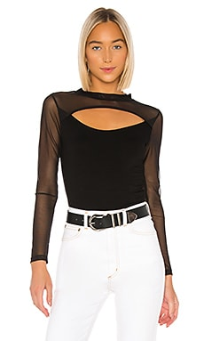 Bound Mesh Long Sleeve Top LNA $56