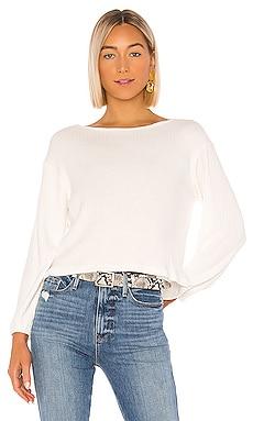 Alessandra Sweater Ribbed Top LNA $104