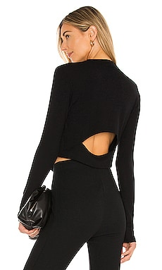 Brushed Pose Back Cut Out Top LNA $121 NEW