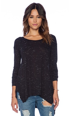 LNA Coast Long Sleeve Top in Black