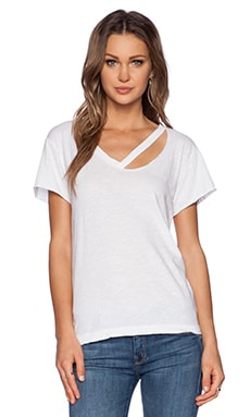 Fallon V Neck Tee in White