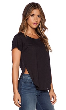 LNA Curved Tee in Black