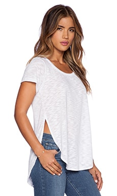 LNA Curved Tee in White