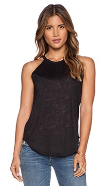LNA Burnout Bib Tank in Black