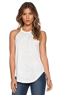 LNA Burnout Bib Tank in White