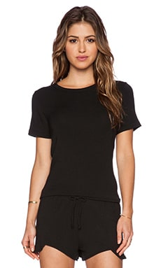LNA Harper Open Back Tee in Black