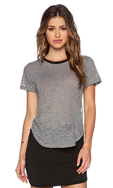 LNA Ringer Tee in Grey