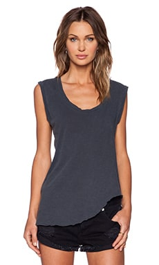 LNA Deep U Neck Tank in Black