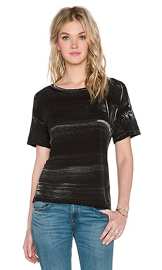 LNA Boxy Tee in Black Brush Dye