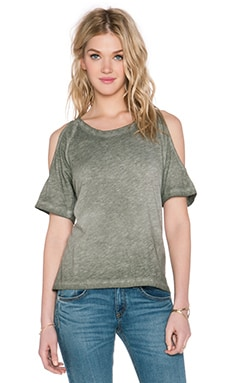 LNA Ella Tee in Moss Antique Wash
