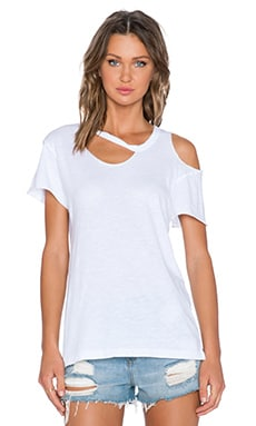 LNA Slasher Tee in White