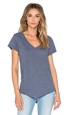 LNA James V Neck Tee in Blue Jay