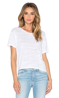 LNA Bell Crop Tee in White