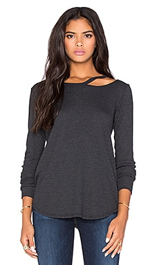 LNA Waffle Long Sleeve Desert Tee in Charcoal