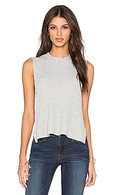 LNA Sonja Sleeveless Tank in Heather Grey