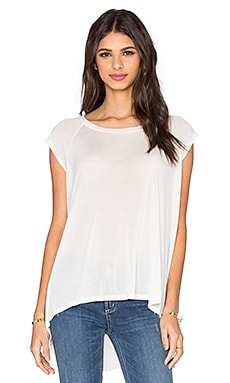 High Low Muscle Top in White