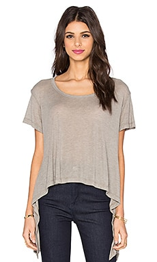 LNA Ribbon Tee in Bark