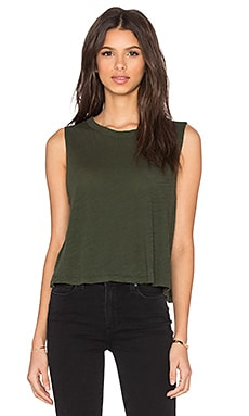 Muscle Cape Tank en Army