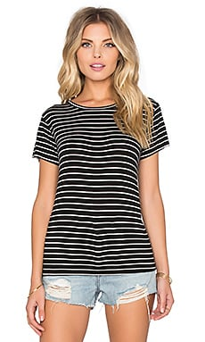 LNA Baby Tee in Black & White Stripe