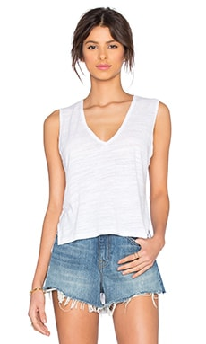 Backtail Sleeveless Tank in White