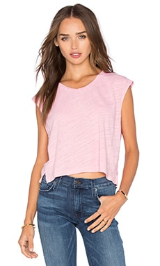 LNA Skater Crop Muscle Tank in Rosie