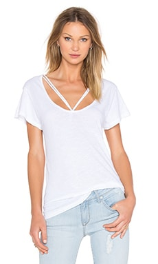 Double Strap Tee in White