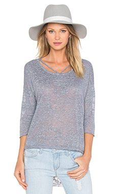 LNA Cape Strap Tee in Heather Grey Burnout