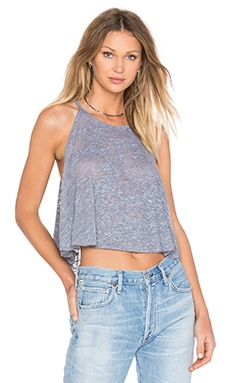 Swing Crop Bib Tank in Heather Grey Burnout