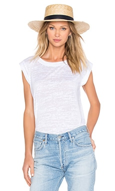 LNA PE Tee in White Burnout