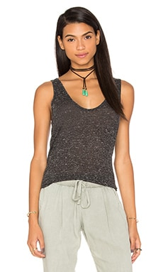 Extreme U Neck Tank in Heather Black
